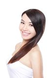 Woman hair care Royalty Free Stock Image