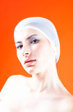Woman With Hair Covered - 2 Royalty Free Stock Photography
