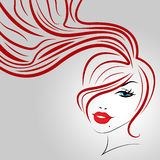 Woman Hair Indicates Good Looking And Adult Stock Images