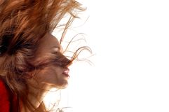 Woman with hair in motion Royalty Free Stock Photos
