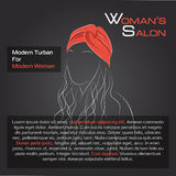 Woman with hair in red turban Stock Photos