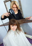 Woman in hair salon Royalty Free Stock Photography