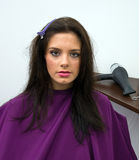 Woman in hair salon Stock Photography