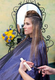 Woman in hair salon Royalty Free Stock Image
