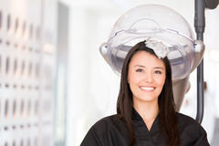 Woman at the hair salon Royalty Free Stock Photo