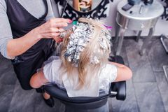 Woman in Hair Salon Royalty Free Stock Photo