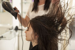 Woman in a hair salon Royalty Free Stock Image