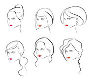 Woman hair style Royalty Free Stock Photo