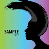 Woman Hair style banner. Woman Hair style Silhouette vector illustration Royalty Free Stock Image