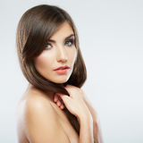 Woman hair style fashion portrait. . close up female fac Royalty Free Stock Images