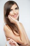 Woman hair style fashion portrait. . close up fema Stock Photos