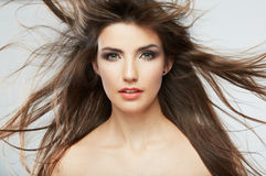 Woman hair style fashion portrait . . Royalty Free Stock Images