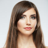 Woman hair style fashion portrait. Stock Photos