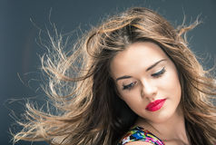 Woman hair style Royalty Free Stock Photos