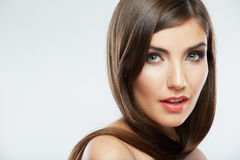 Woman hair style fashion portrait. Royalty Free Stock Images