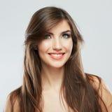 Woman hair style fashion portrait. Stock Image