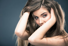Woman hair style Stock Image