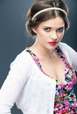 Woman hair style Royalty Free Stock Photography