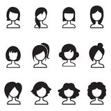 Woman hair style icons  symbol illustration Stock Photo