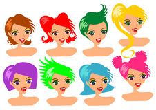 Woman hair style Stock Images