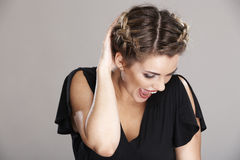 Woman hair style Royalty Free Stock Images