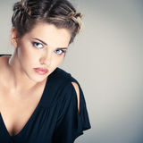 Woman hair style portrait Stock Photography