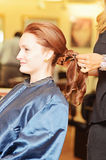 Woman hair styling royalty free stock image