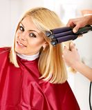Woman at hairdresser. Stock Photography
