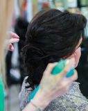 Woman at hairdresser Royalty Free Stock Photo
