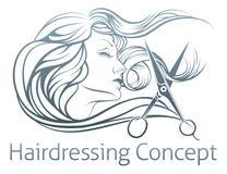 Woman Hairdresser Scissor Concept Royalty Free Stock Photo