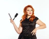 Woman hairdresser Stock Photos