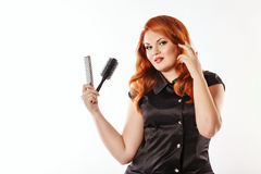 Woman hairdresser Royalty Free Stock Photos