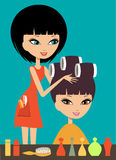 Woman in hairdressing beauty salon Stock Photo