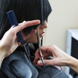 Woman in hairdressing salon Royalty Free Stock Images