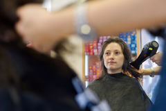 Woman at hairdressing salon Royalty Free Stock Photo