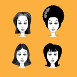 Woman hairstyle Royalty Free Stock Image