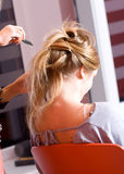 Woman-hairstyle Stock Photography