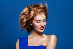 Woman hairstyle fashion portrait. Stock Image