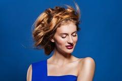 Woman hairstyle fashion portrait. Stock Image