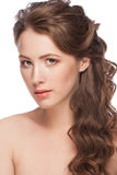 Woman with hairstyle Stock Image