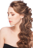 Woman with hairstyle royalty free stock photos