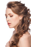 Woman with hairstyle Royalty Free Stock Images