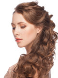 Woman with hairstyle Royalty Free Stock Image