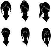 Woman hairstyle Stock Image