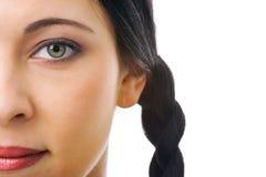 Woman half face Stock Photo