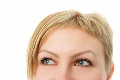 Woman half face Stock Photos