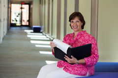 Woman in Hall Royalty Free Stock Photography