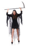 Woman in halloween concept Stock Image