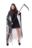 Woman in halloween concept Stock Images