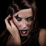 Woman on Halloween night Royalty Free Stock Images